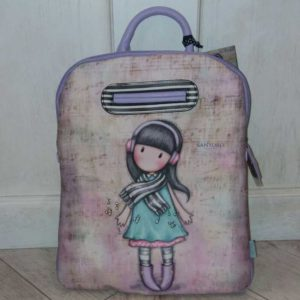 Mochila Santoro Gorjuss rosa Lost in Music