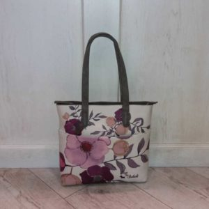Bolso flores shopping Dogs by Beluchi lila