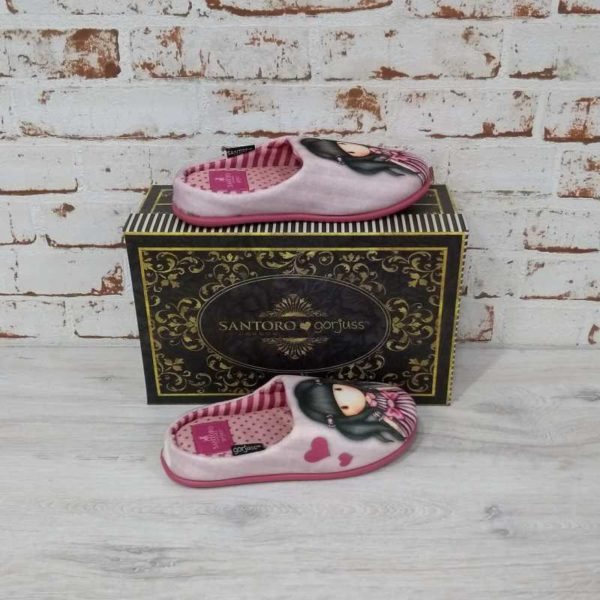 Zapatillas de casa Gorjuss Sugar and Spice rosa caja