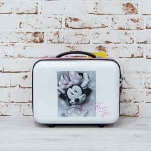 Neceser Disney Minnie Mouse en color blanco y detalles en rosa
