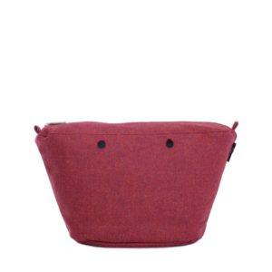 O bag knit .bolsa interna tweed burdeos