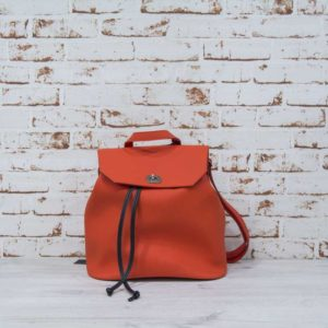 O bag soft ride naranja con correas de goma