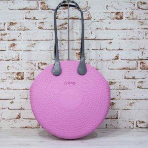 Bolso O bag twist mini rosa + asas largas xs ecopiel gris 2