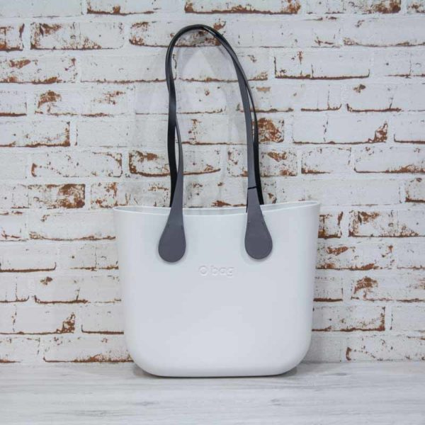 O Bag Mini blanco + asas largas xs slim gris