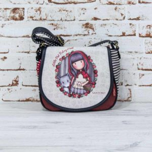 Bandolera Gorjuss con solapa LITTLE RED RIDING HOOD