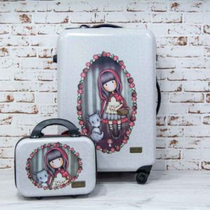 Maleta Mediana Gorjuss Santoro - LITTLE RED RIDING HOOD conjunto