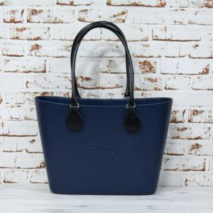 *O Bag Urban navy + asas largas ecopiel negras